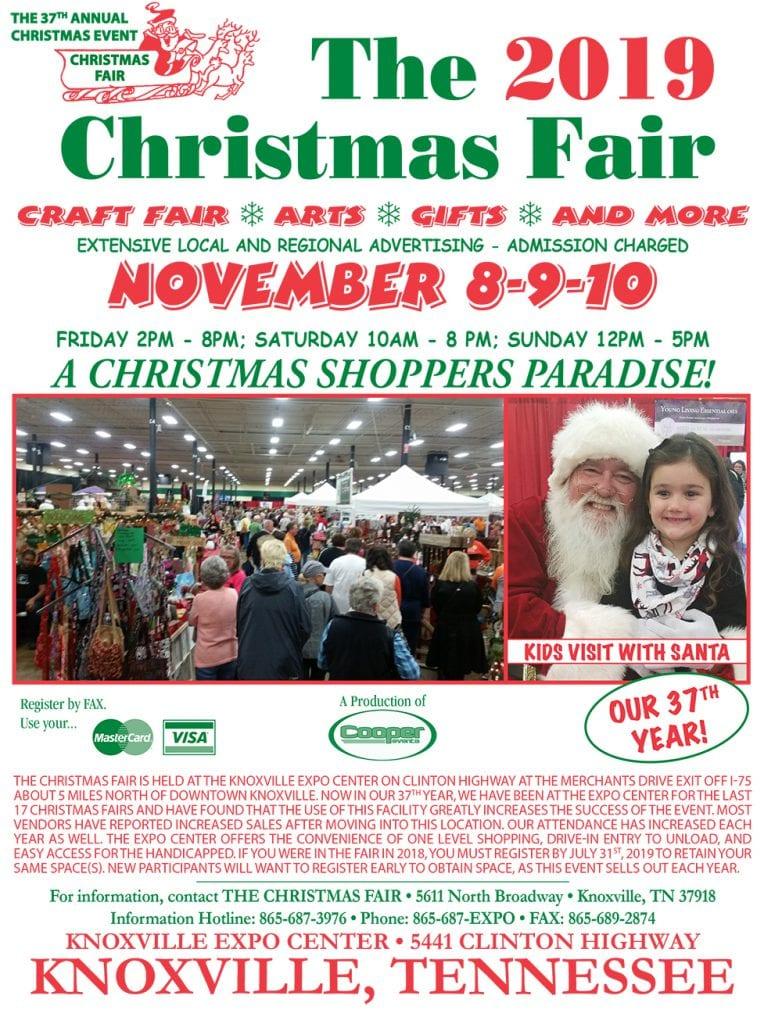 Knoxville Christmas Fair 2020 The 2019 Christmas Fair | Knoxville Expo Center
