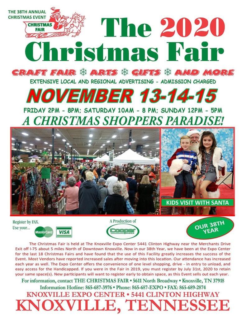 Knoxville Christmas Fair 2020 The 2020 Christmas Fair | Knoxville Expo Center