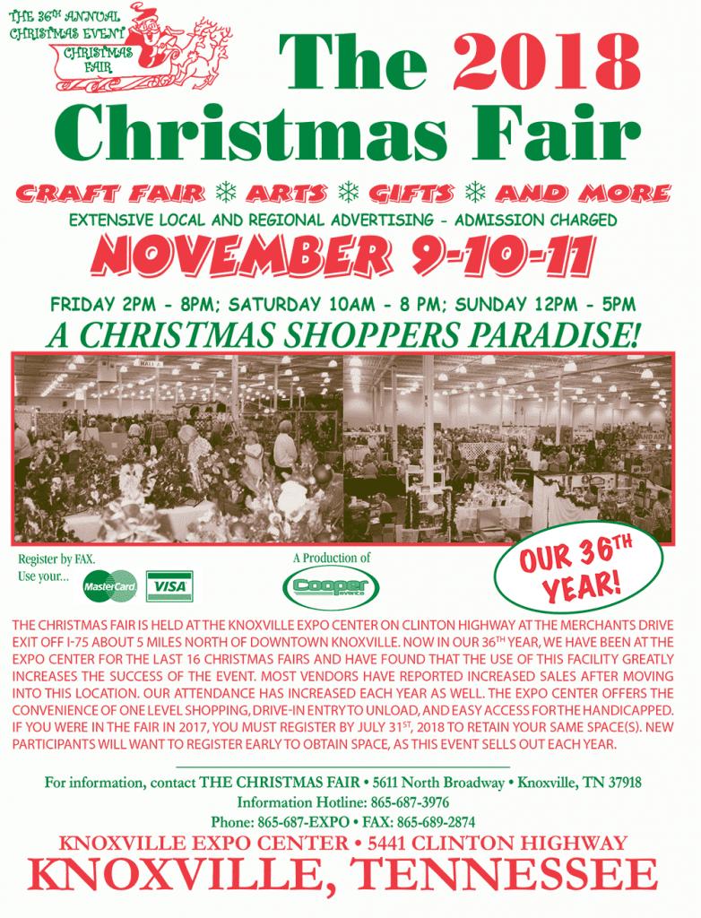 Knoxville Christmas Fair 2020 The 2018 Christmas Craft Fair | Knoxville Expo Center